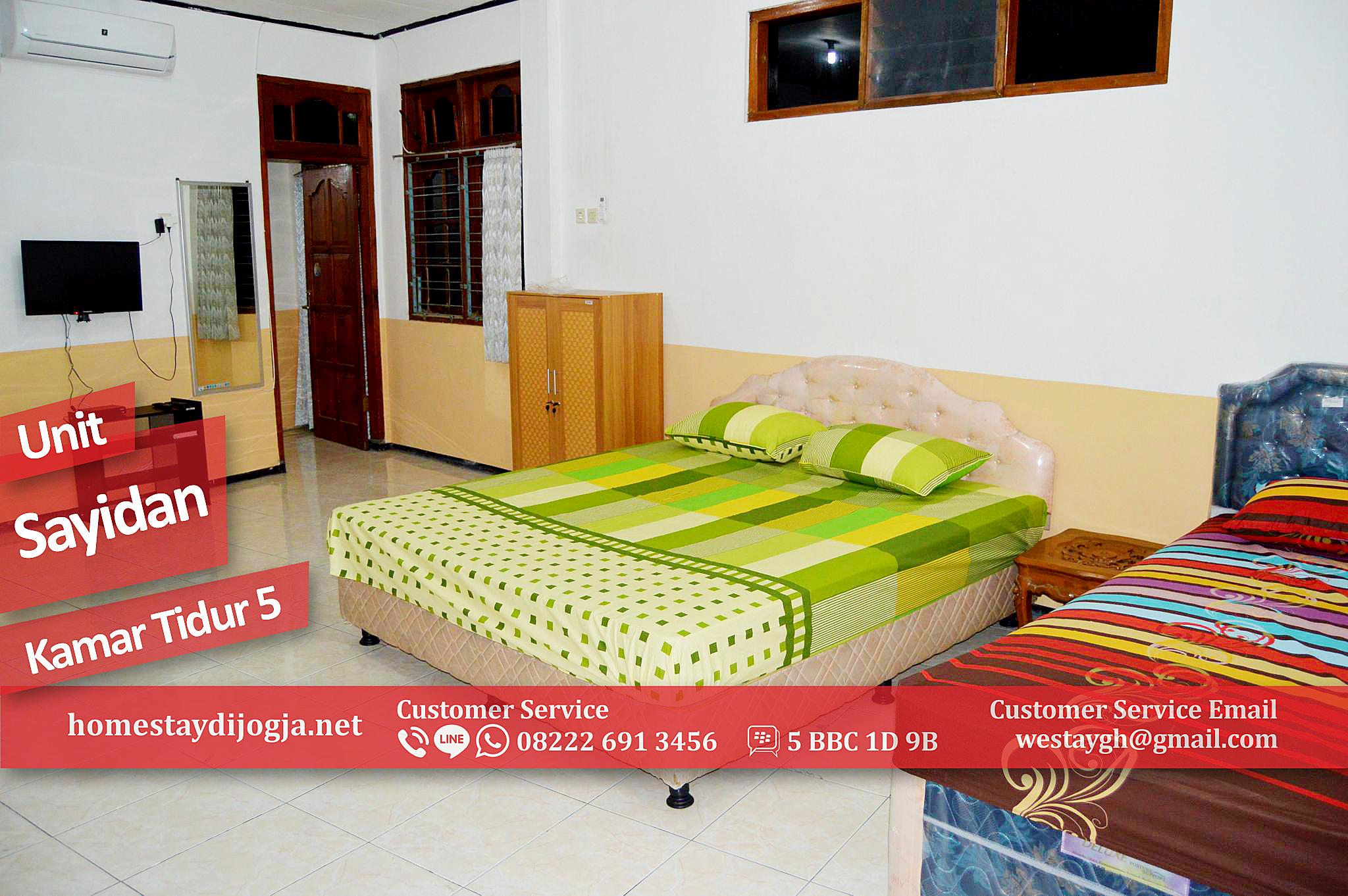 Guest House 5 Kamar Tidur di Sayidan 15 menit jalan kaki ke Malioboro
