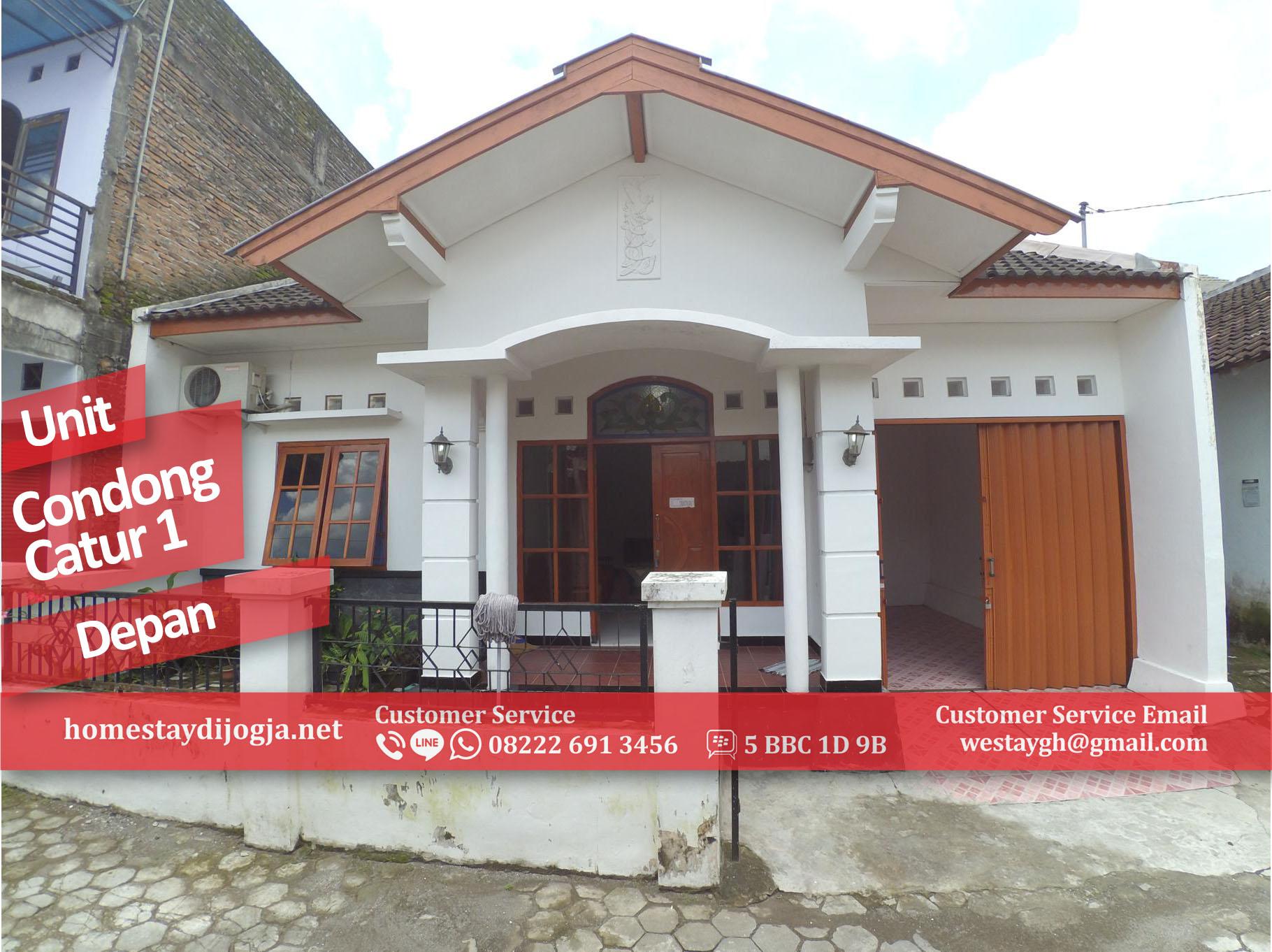 Homestay Murah 2 Kamar AC hingga 15 orang harga 550.000/malam di Condong Catur