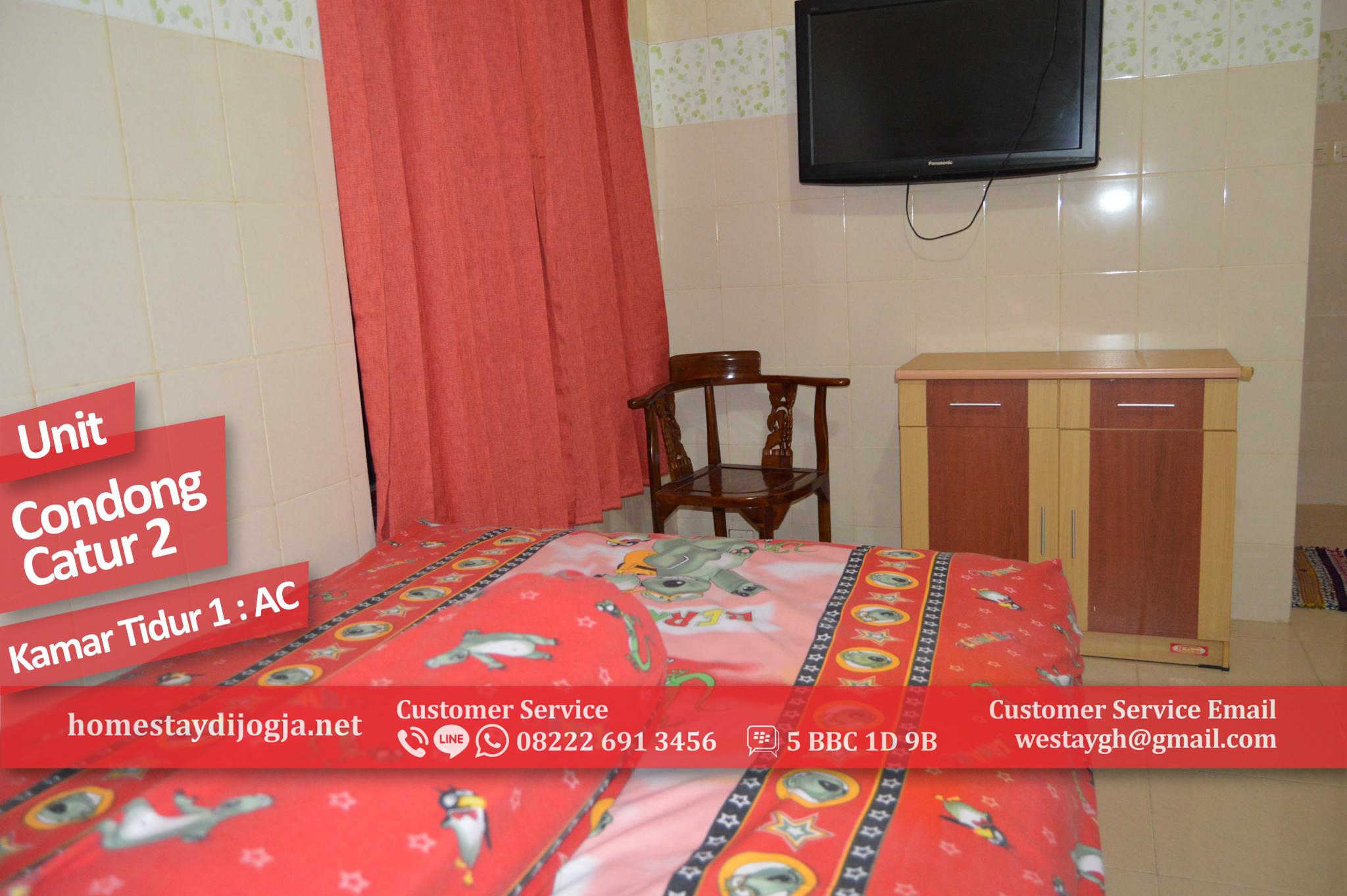 Penginapan 2 kamar AC di Condong Catur 25 Menit Menuju Malioboro