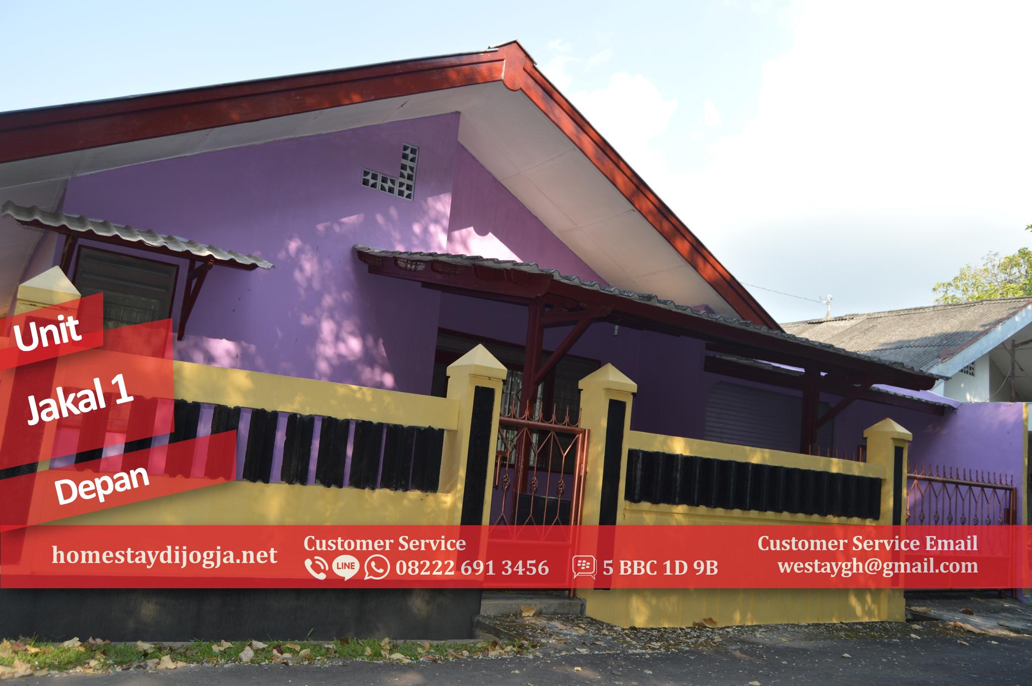 Penginapan Jogja 3 Kamar Tidur Kipas Angin di Jalan Kaliurang KM 14 dekat UII