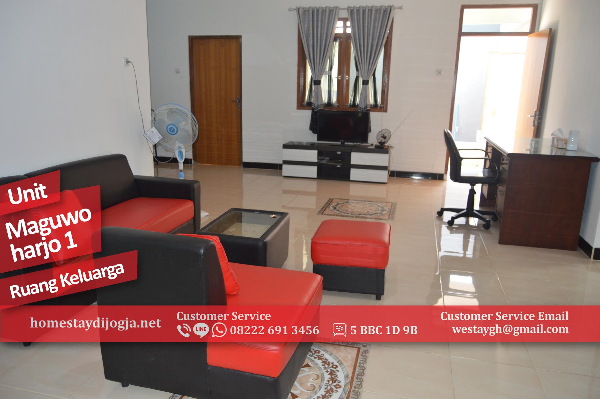 Penginapan Jogja 3 kamar AC di Maguwoharjo 10 menit menuju Bandara Adisucipto