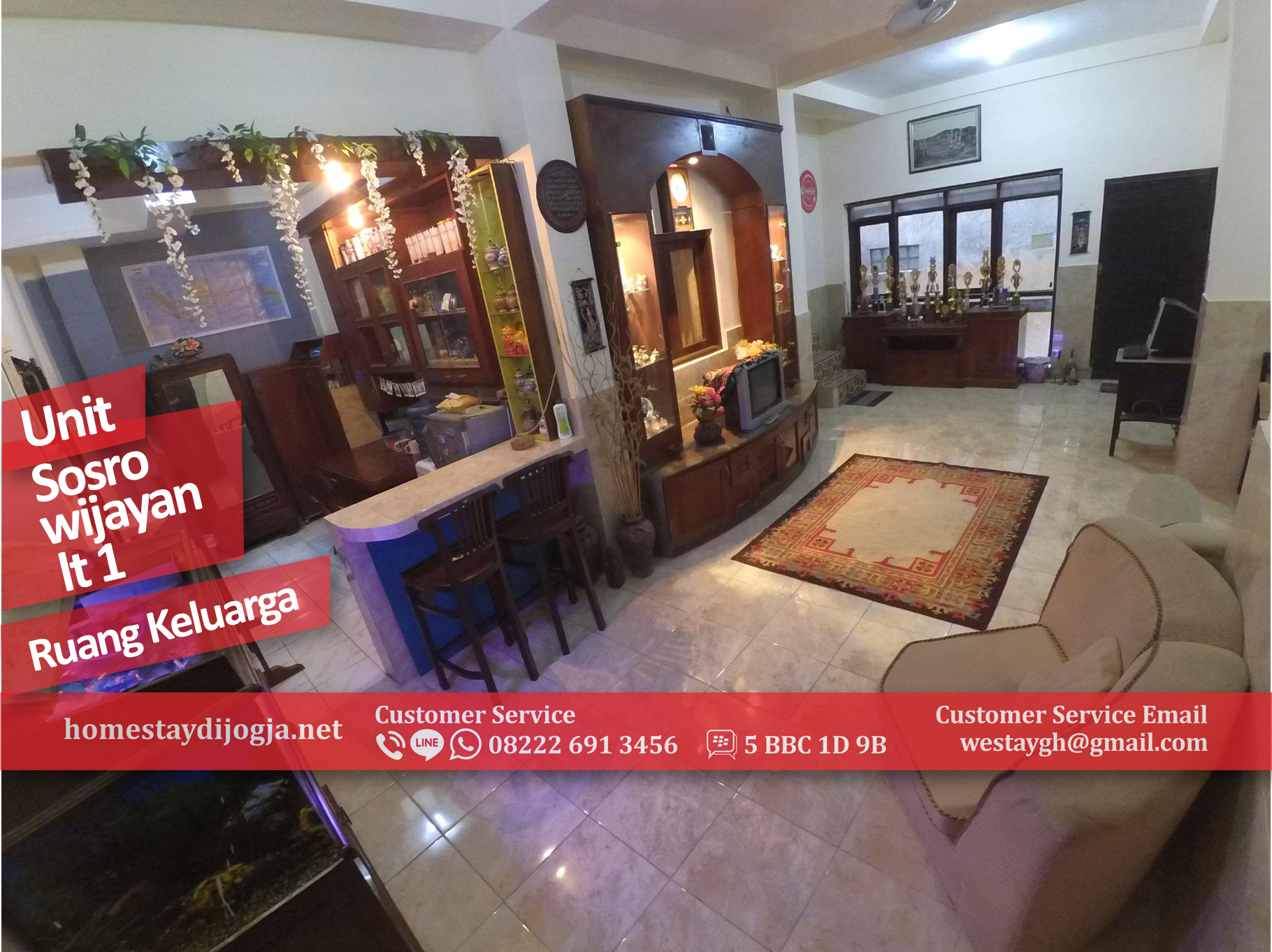 Guest House Jogja 4 Kamar di Sosrowijayan 100 Meter dari Malioboro
