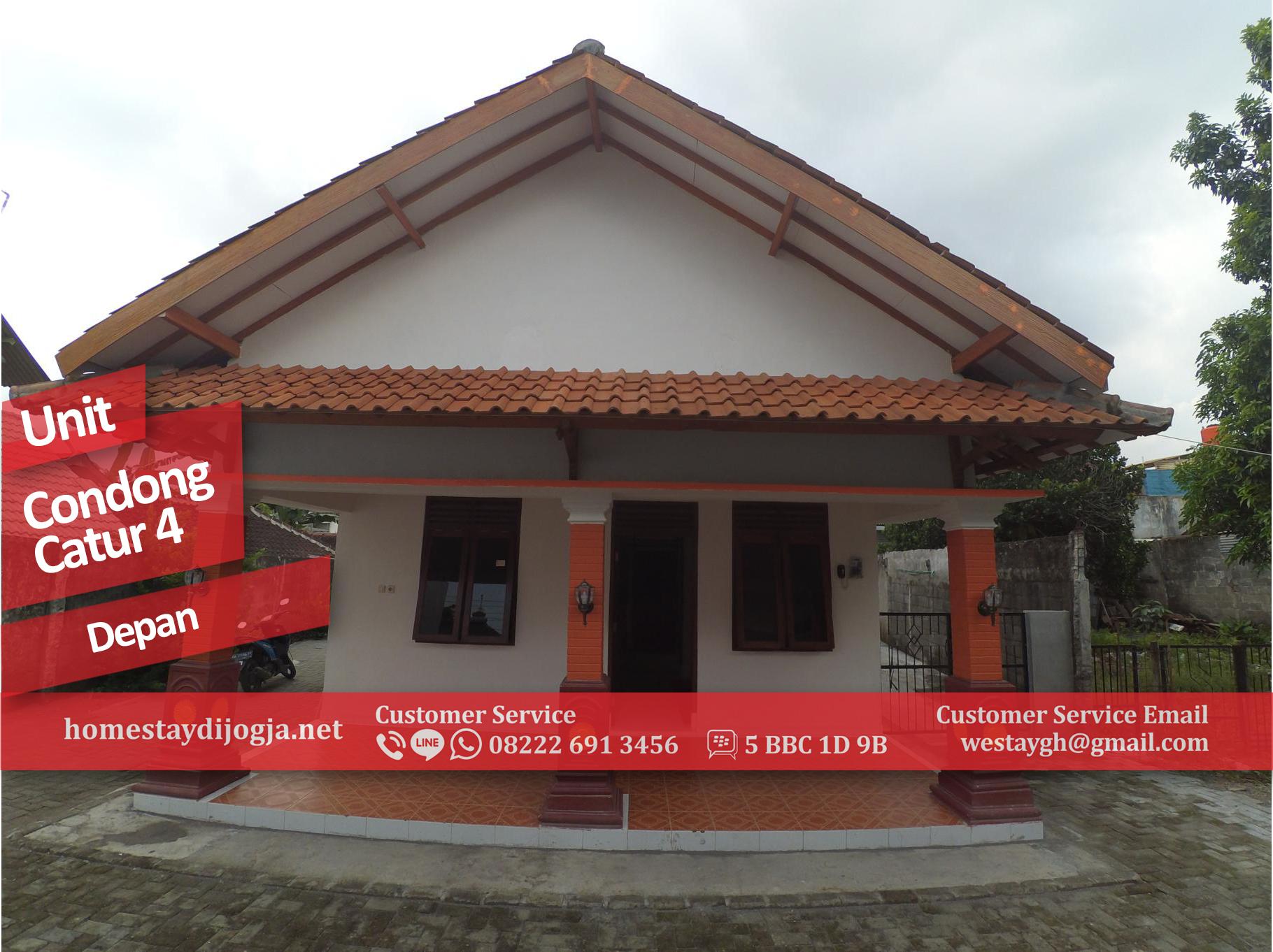 Homestay Murah 2 Kamar AC di Condong Catur kapasitas 13 orang