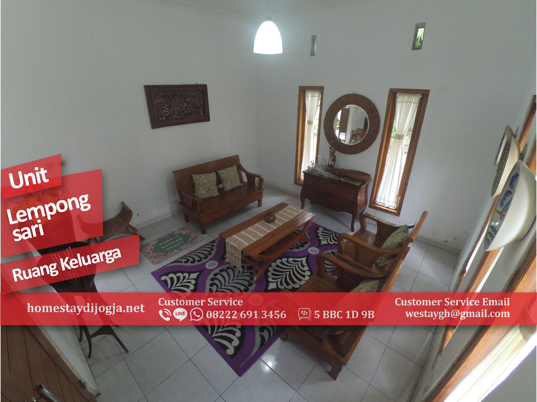 Guest House 3 Kamar AC di Lempongsari dekat UGM