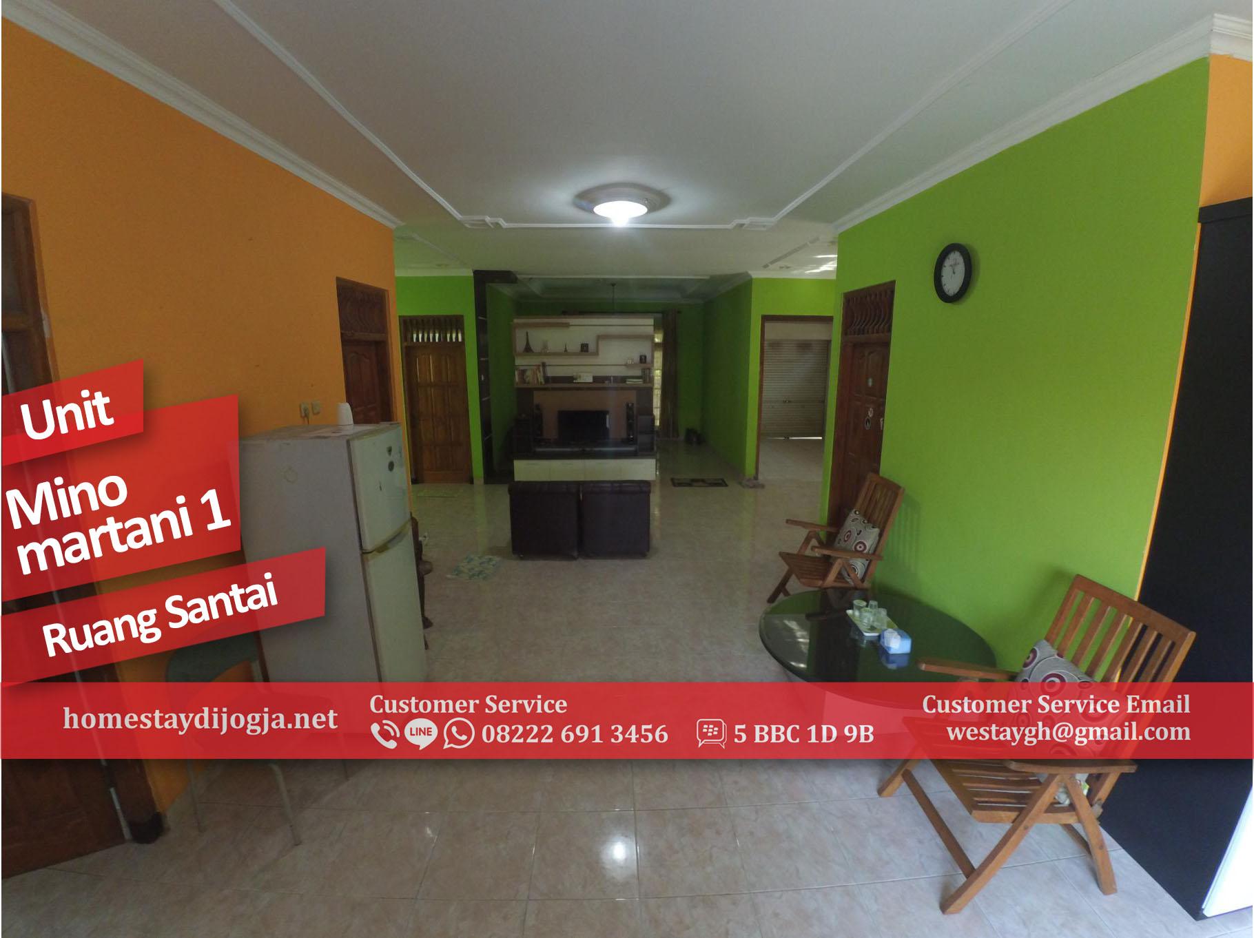 Guest House 3 Kamar Fan di Minomartani 25 menit menuju malioboro
