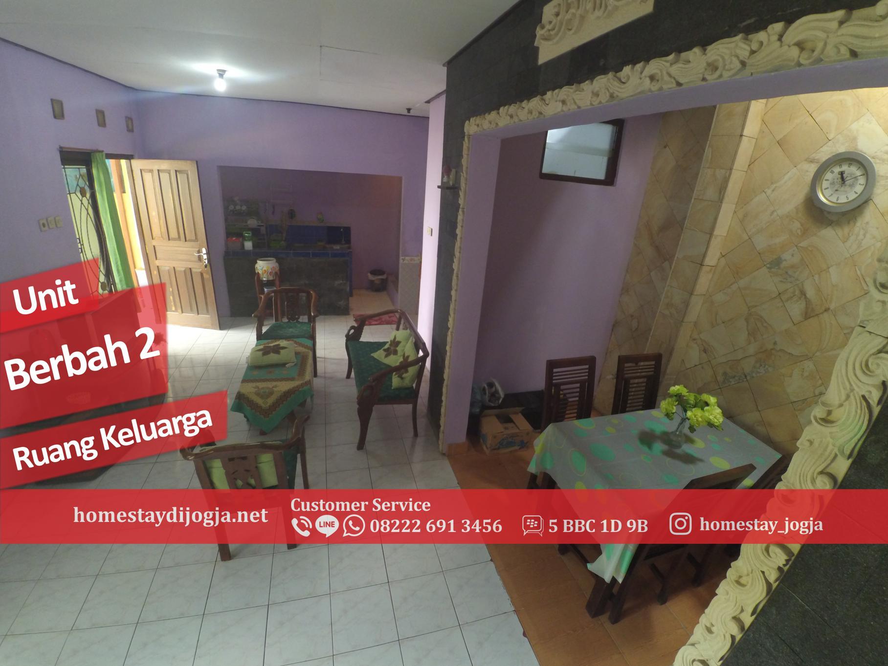 Penginapan 2 Kamar di Berbah 35 menit menuju Malioboro