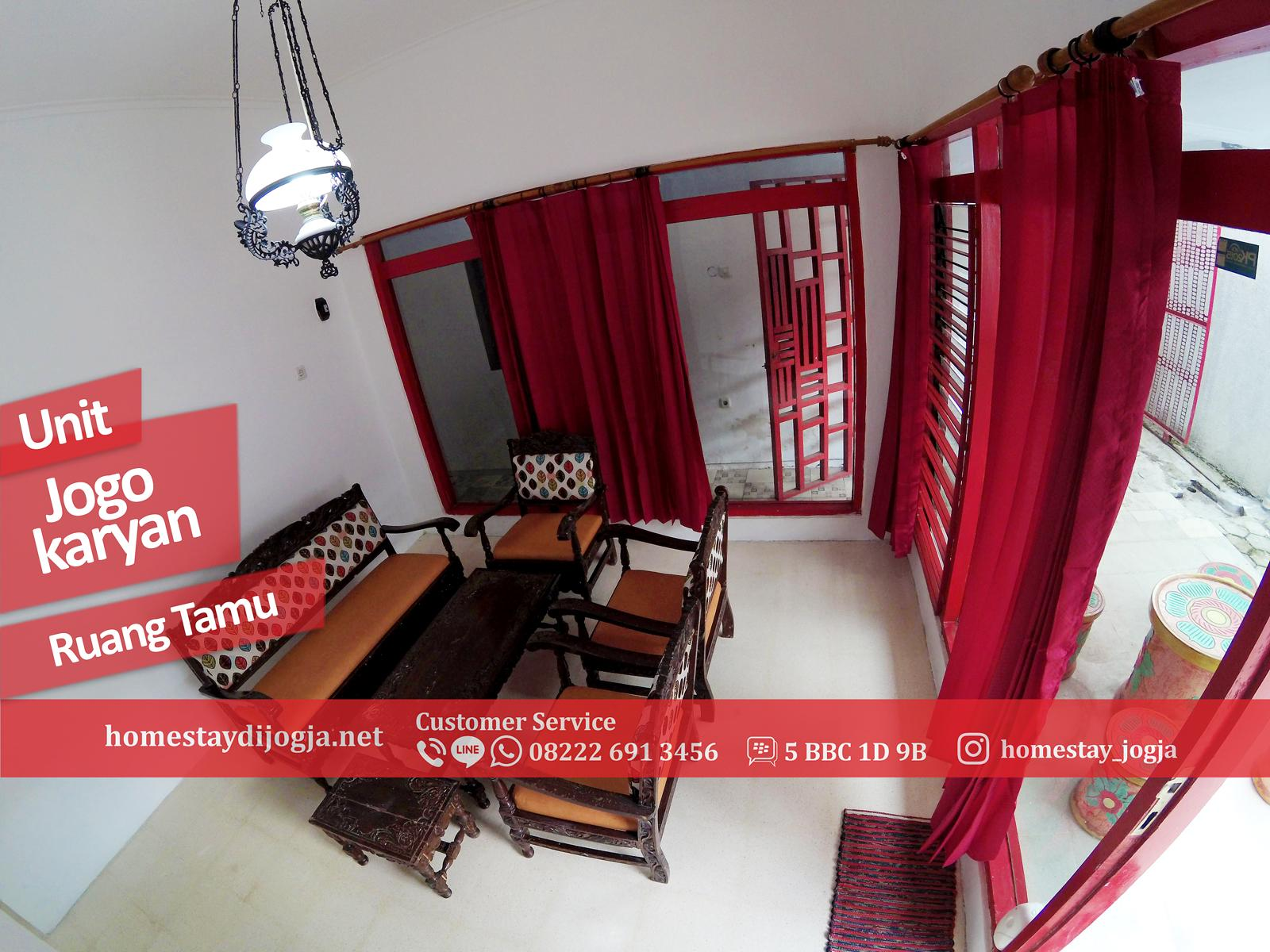 Guest House Jogja 3 kamar di Jogokaryan 10 menit menuju malioboro