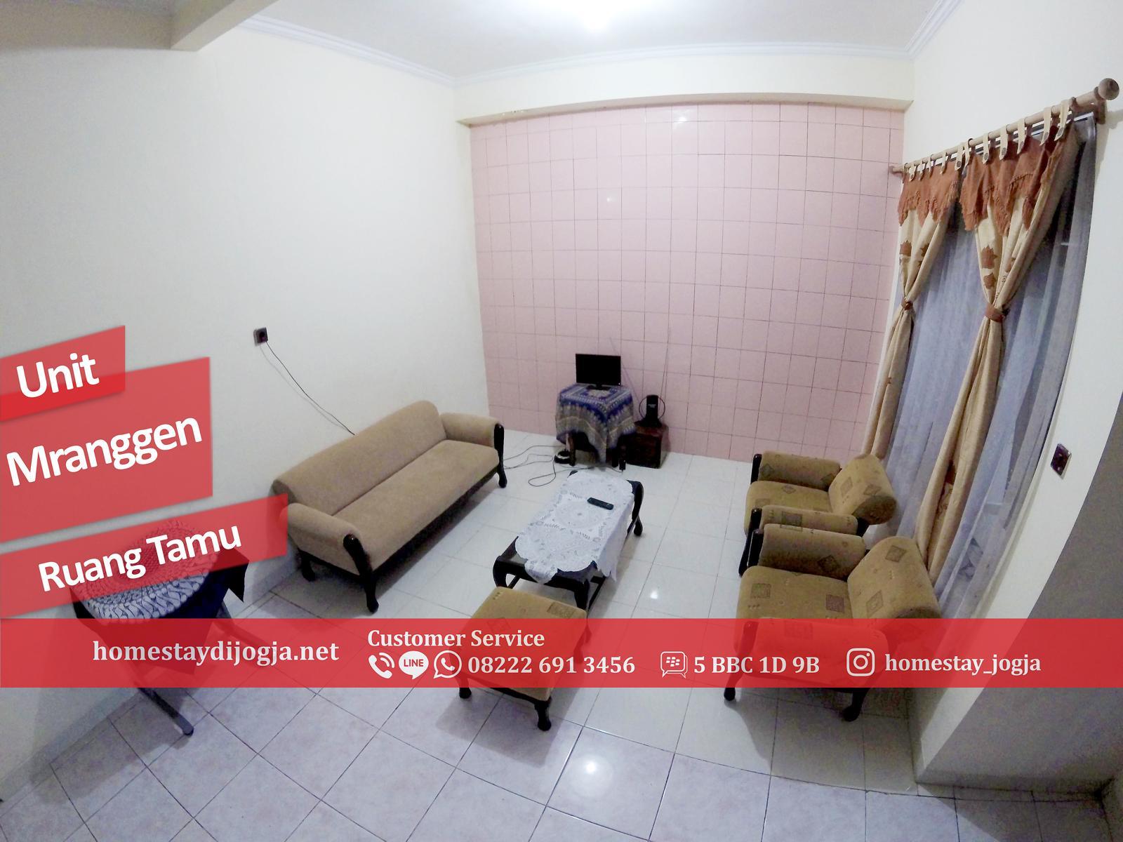 Guest House Jogja 3 kamar FAN di Mranggen 15 menit menuju malioboro