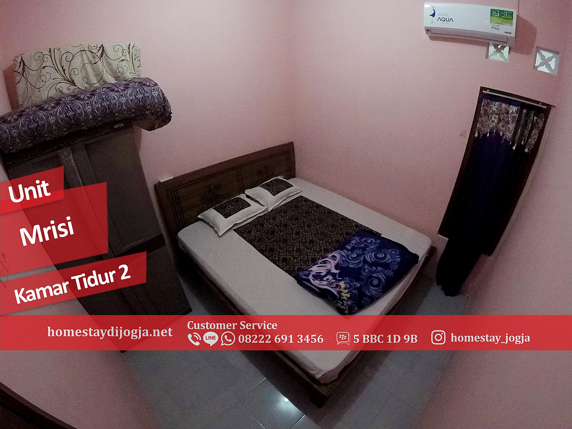 Homestay 3 kamar tidur AC di Mrisi 25 menit menuju Malioboro