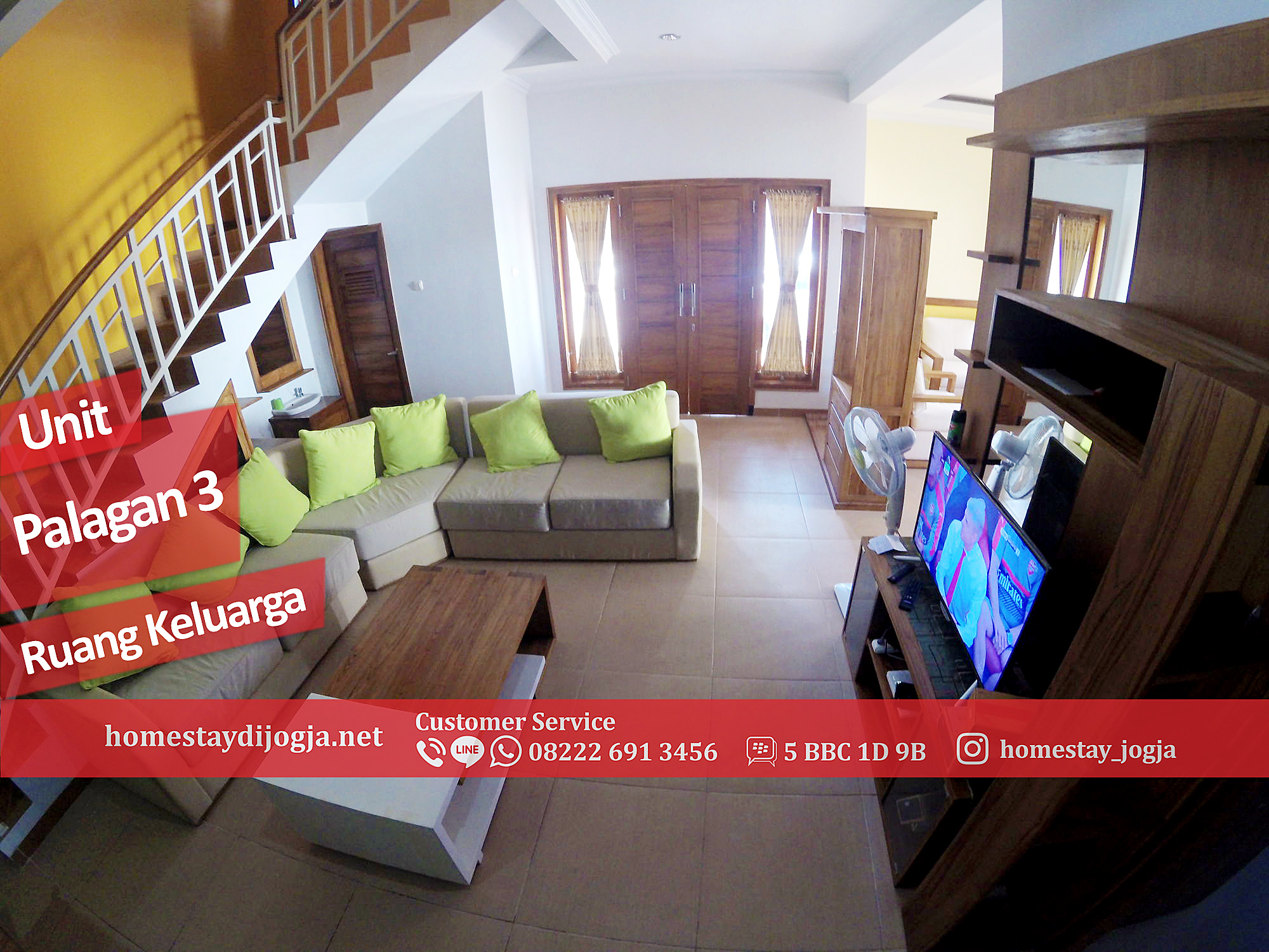 Homestay Premium 3 kamar AC dan 1 kamar Kipas Angin di Palagan km 10 menuju malioboro 30 menit