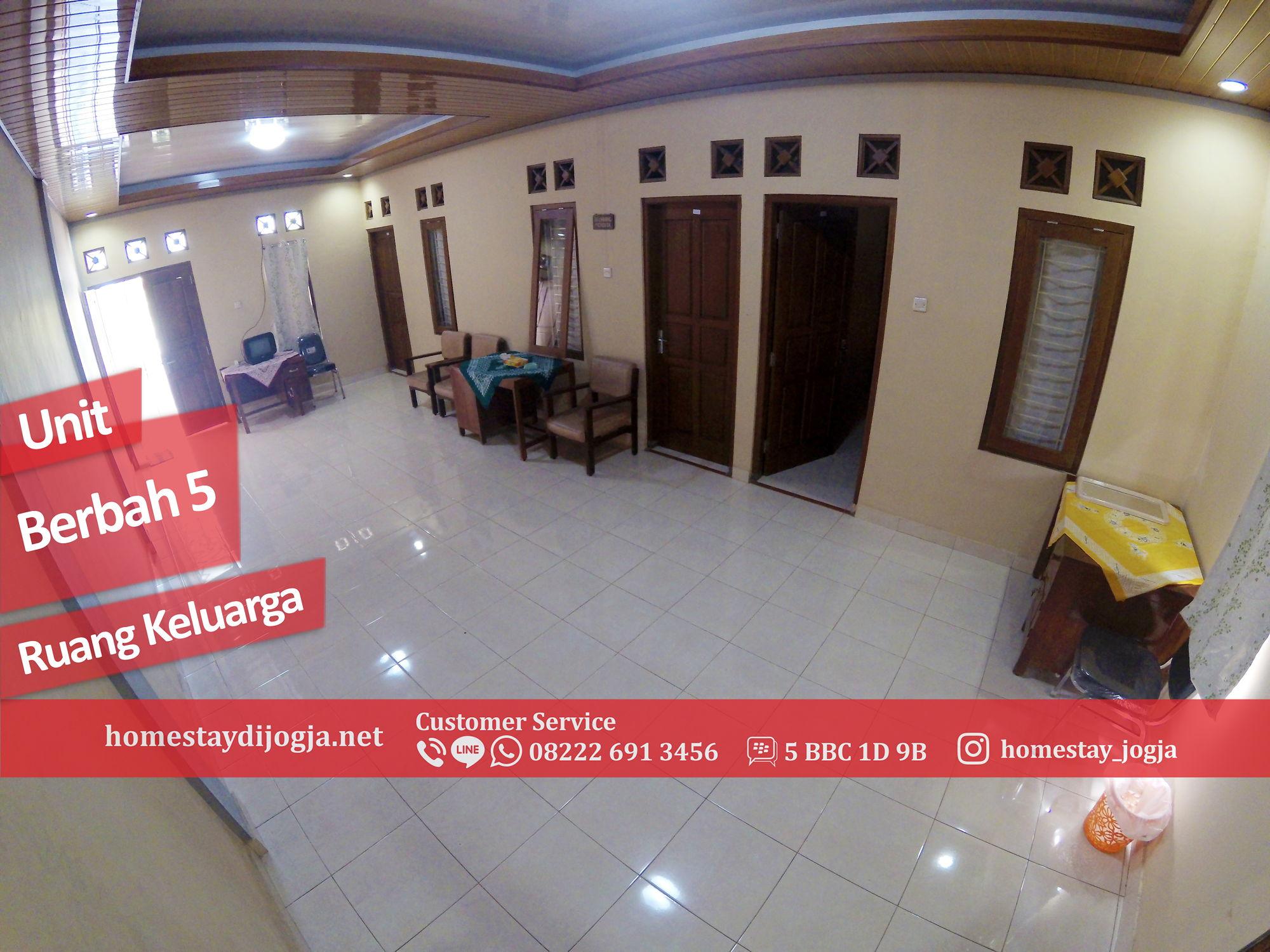 Homestay Murah 6 Kamar tidur di Berbah kapasitas hingga 30 orang