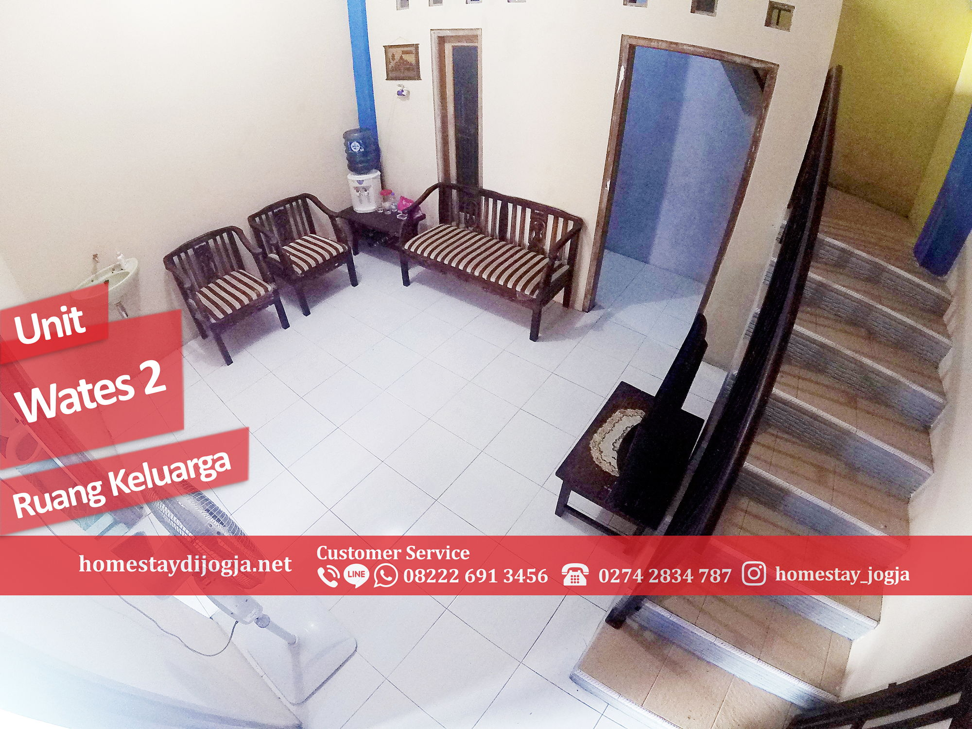 Homestay Jogja 4 Kamar Tidur 20 menit menuju malioboro di Jalan Wates km 7