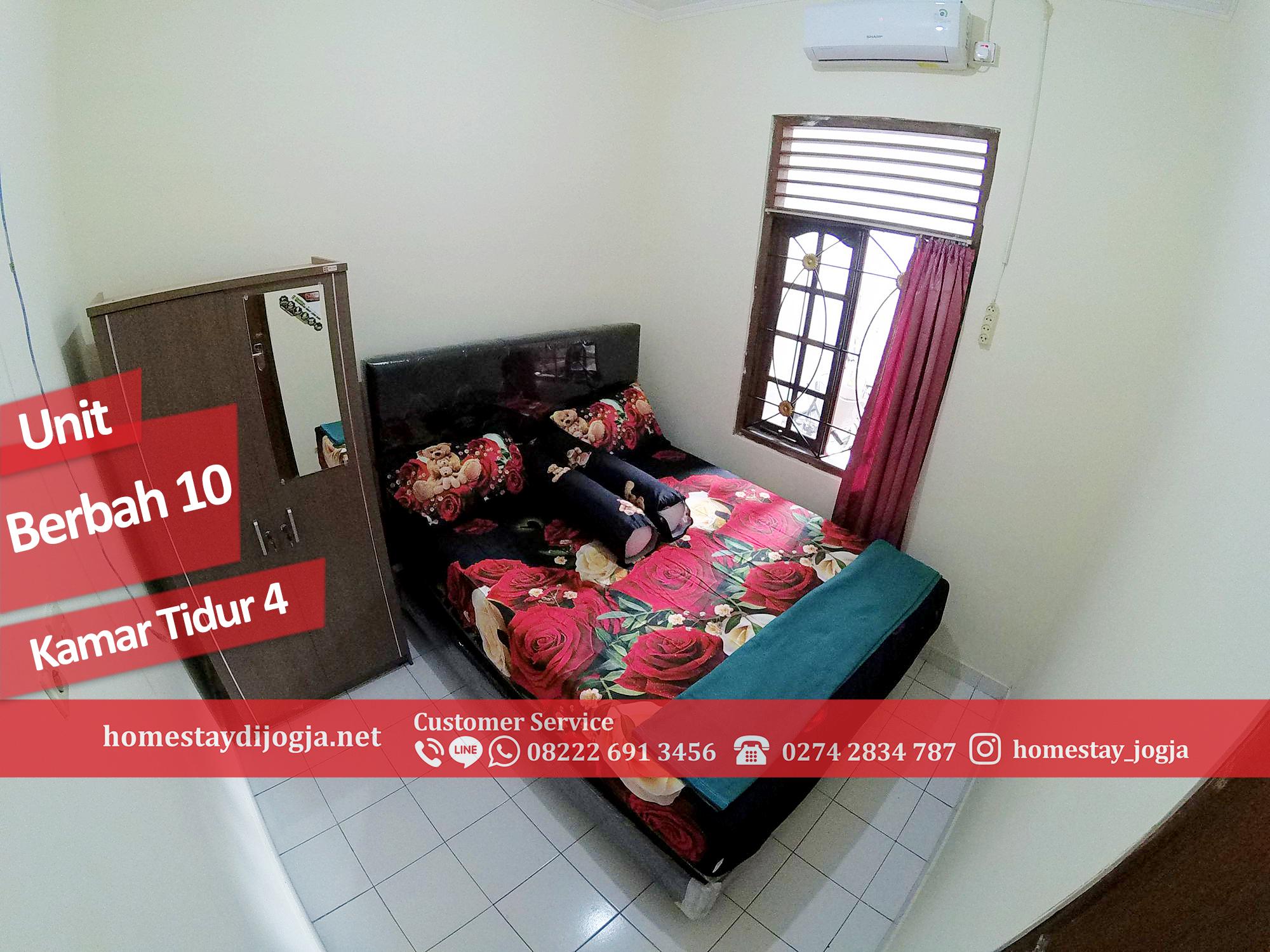 Homestay Murah 4 Kamar tidur di Berbah kapasitas hingga 20 orang dekat bandara adisucipto